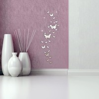 30PCs/set Butterfly Combination 3D Mirror Wall Stickers Home Decoration DIY