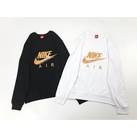 NIKE Autumn And Winter New Fashion Letter Hook Print Women Men Long Sleeve Top Sweater