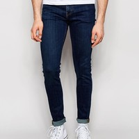 Weekday | Weekday Form Super Skinny Jeans in Stretch MTW Mid Blue at ASOS