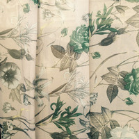 Chiffon unique dress fabric summer detailed Spiritual plant print store quality sold per yard
