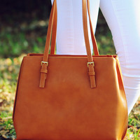 Don't Be Late Purse: Chestnut