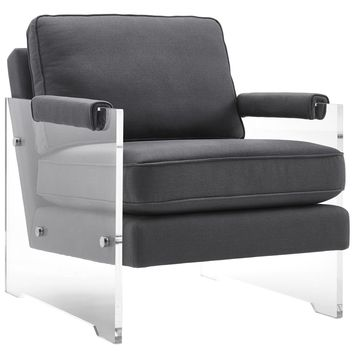 Serena Gray Floating Lucite Chair