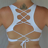 Snow Goddess Top by Lotus Tribe Clothing/Festival Top/Yoga Top/Yoga Bra/Yoga Clothing/Festival Clothing/Yoga Clothes/Sports Bra/Crop Top/Bra