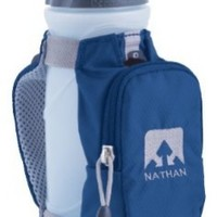 Nathan Quickdraw Plus Handheld Bottle Carrier (Estate Blue, 22-Ounce)