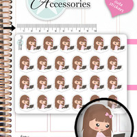 Work Stickers Working Planner Stickers Computer Stickers Cute Stickers Erin Condren Functional Stickers Kawaii Stickers NR1365