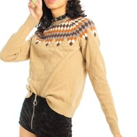 Vintage Y2K Toffee Butter Cookie Sweater - One Size Fits Many