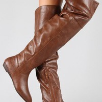 Bamboo Zoria-48 Cuff Pointy Toe Thigh High Boot