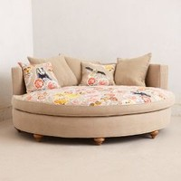 Pixelated Flora Circle Sofa by Anthropologie Neutral One Size Furniture