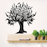 Wall Decal Tree Silhouette Decals for Country House Living Kids Room Bedroom Vinyl Stickers Nature Home Decor Art Mural 3815