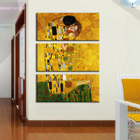 3pcs Gustav Klimt printed oil painting on canvas wall art prints picture for living room home decoration or hotel free shipping