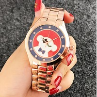 TOUS Popular Woman Men Cute Bear Pattern Quartz Watch Movement Watches Wrist Watch Rose Golden I12480-1