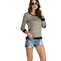 Taupe Lets Go Patchwork Shirt