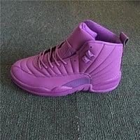 Air Jordan 12 Retro Purple Sneaker Shoe