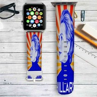Hillary Clinton 2016 Custom Apple Watch Band Leather Strap Wrist Band Replacement 38mm 42mm