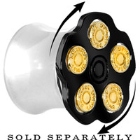 """7/16"""" Black Spinning Bullet Chamber Plug 