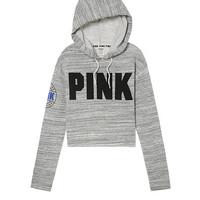 Cropped Drop Shoulder Pullover - PINK - Victoria's Secret