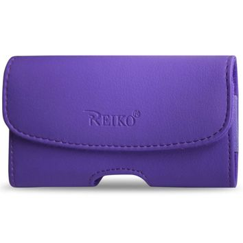 Reiko HORIZONTAL POUCH HP102C APPLE IPHONE 4G PLUS PURPLE CELL PHONE WITH COVER