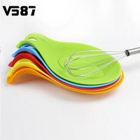 Silicone Spoon Rest Practical Heat Resistant Home Kitchen Utensil Spatula Holder Racks New Colorful