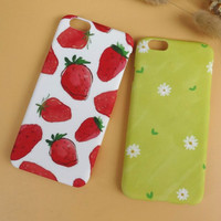 Unique Strawberry Chrysanthemum Solid Mobile Phone Case For Iphone  6 6s 6plus 6s plus + Nice gift box!