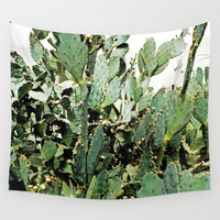 Cacti Wall Tapestry by PoseManikin