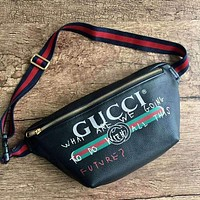 GUCCI Retro Classic Women Shopping Leather Crossbody Satchel Shoulder Bag Black