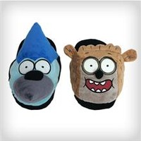 The Regular Show Rigby and Mordecai Mix and Match Adult Slippers