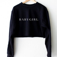 Babygirl Oversized Cropped Sweater