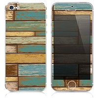 The Vintage Color Wood Planks Skin for the iPhone 3, 4-4s, 5-5s or 5c
