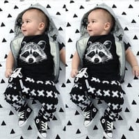 Toddler Baby Girl Boy Fox T-shirts Pants Leggings 2pcs Outfits Set Clothing = 5618790337
