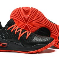 Under Armour Men's SC30 Stephen Curry 4 Low Black/Red Sport Sneaker