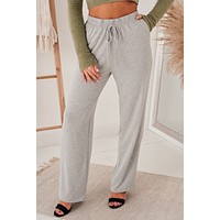 Easy As Can Be Knit Sweatpants (Heather Grey)