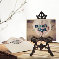 Thank You card romantic gift for her for him dude by GoldenSection