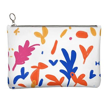Abstract Leaf & Plant Leather Clutch Bag by The Photo Access