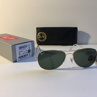 NEW Ray-Ban RB3362 001 59-15-140 Gold/Green G15 59mm Lens Sunglasses