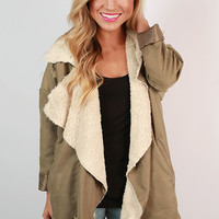 Love In My Latte Shearling Trench
