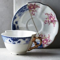 Unlikely Symmetry Cup & Saucer by Anthropologie