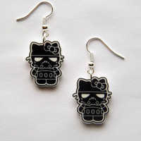 Hello Kitty  Star Wars  Darth Vaderr Kitty earrings by Murals4U
