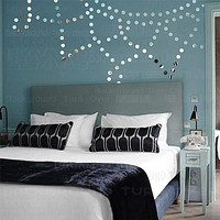 Sun Shaped Acrylic Dot Mirror Wall Sticker