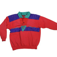 Mo Vintage Nevica Premier Neigf Sweater - Red/Purple