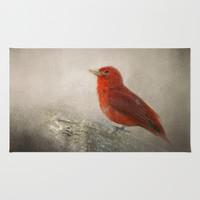 Song of the Summer Tanager 1 - Birds Area & Throw Rug by Jai Johnson