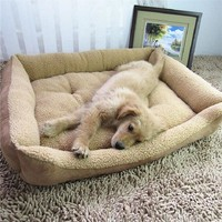 Big-Size Large Dog Bed Puppy Blanket Cushion House Cat Bed Mat Blanket Kennel Nest Big-Size Pet Bed Sofa Removable Pillow