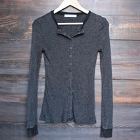 project social t - vermont washed down waffle knit henley