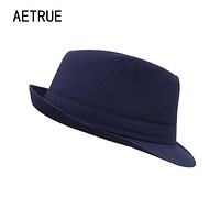 Men Fedoras Hat Women Felt Hats Men Panama Caps Gorros Chapeu Church Boater Wide Brim Brand Fashion Sun Fedoras Summer Top Hats