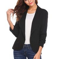 feitong  2018 winer Autumn OL Black Women Blazers  New Fashion Single Button Blazer Femenino Ladies Blazer Female#j35