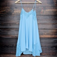 Flower child flowy dress | light chambray