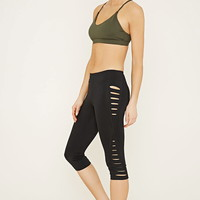 Active Cutout Capri Leggings | Forever 21 - 2000152433