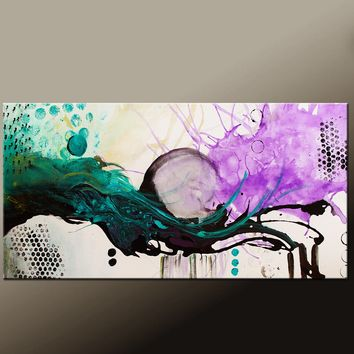 Abstract Canvas Art Orignal Modern Paintng by Destiny Womack dWo - Beauty & Chaos III