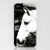 white horse iPhone Case by Marianna Tankelevich   Society6