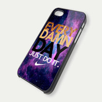 Every Damn Day JUST DO IT  TM00 iPhone 5 Case  by DeluxeCase