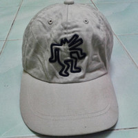 Vintage Keith Haring Dancing Dogs Pop Art White Cap adjustable one size